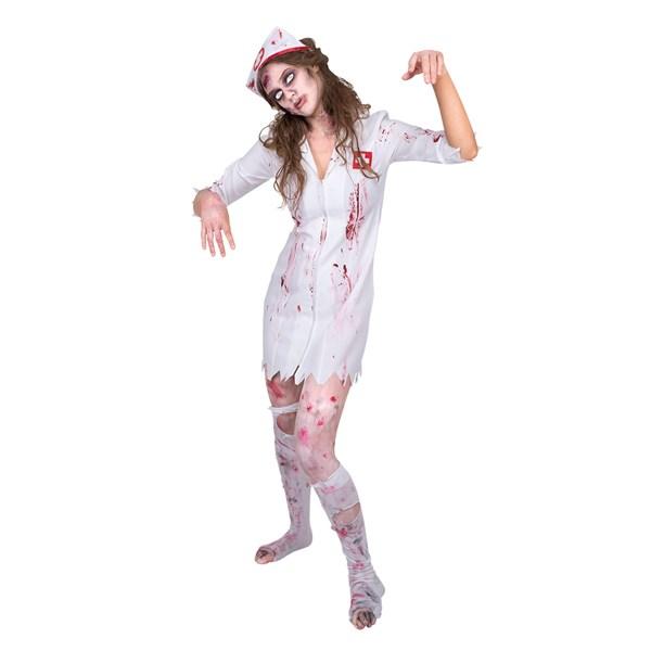 Zombie Sjuksköterska Maskeraddräkt 52ac7283b2dff
