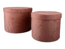 Form Living Förvaring rund softis Polyester 29x22cm/24x19cm Rosa