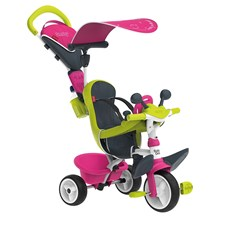 Trehjuling Baby Driver Comfort, Rosa, Smoby