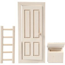 Tomtenissens dörr, stl. 8x18 cm plywood