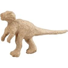 Dinosaurier av Papier-Maché 20x10 cm 1 st