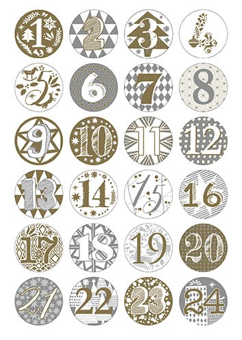 adventskalender knappar guld och silver rico knappar adlibris. Black Bedroom Furniture Sets. Home Design Ideas