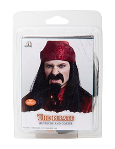 Mustach och skägg pirat