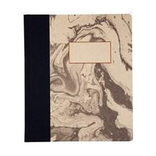 A5 Inbunden Anteckningsbok, Black And White Marbling
