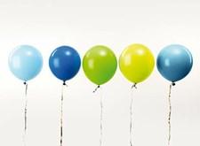 Ballonger, Rico, 30 cm, Blågröna nyanser, 12 st.