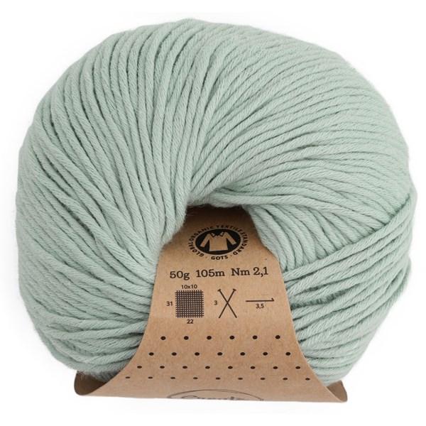 Adlibris Organic Cotton, 50 g, Grey Green A413