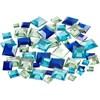 Akryylitimantit, Vihreä/sinisävyt, Neliöt, 6+9+12 mm, 360 Kpl
