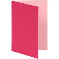 Brevkort, str. 10,5x15 cm, 250 g, 10 stk., pink/rosa