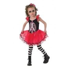 Skelettklänning Maskeraddräkt Barn (Small)