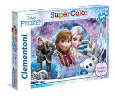 Pussel Disney Frozen Glitter, 104 bitar, Clementoni