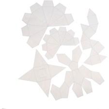 Støpeformer, H: 6+13 cm, tykkelse 0,5 mm, transparent, geometriske former, 5stk.