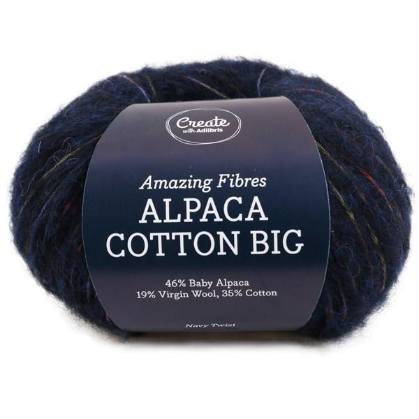 Adlibris Alpaca Cotton Big 50g Navy Twist A683
