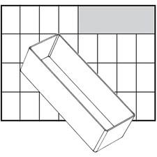 Basisinnsats, str. 157x55 mm, H: 47 mm, 1 stk.