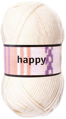 Happy Garn Ullmix 100g Naturvit (52101)