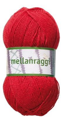 Mellanraggi Garn Ullmix 100g Röd (28202)