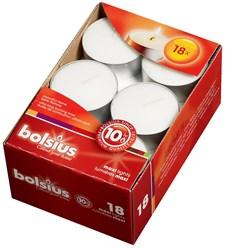 Bolsius Större Värmeljus 18 Pack Vit