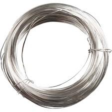 Sølvtråd, tykkelse 100 g, tykkelse 0,4 mm, 80 m, forsølvet