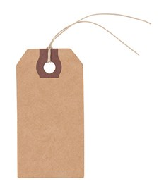 Etiketter Kraftpapper 9x4,5 cm 9 st