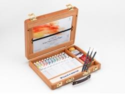 Professional Water Color Bamboo Box Winsor & Newton 5 ml tub 12 st