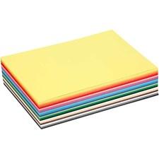 Värillinen kartonki, A5 148x210 mm, 180 g, värilajitelma, 300laj
