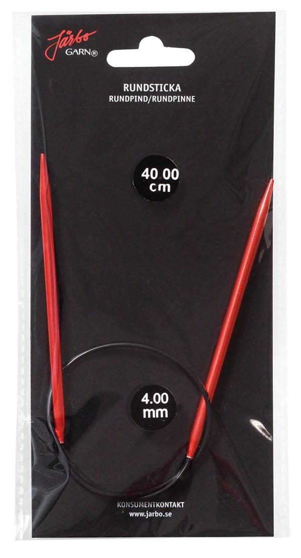 Rundstickor 80 cm/3,5 mm Röd 1 st