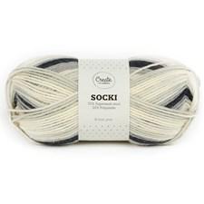 Adlibris Socki Garn Ullmix 100g Winter Grey B020