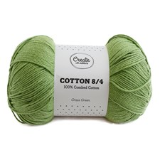 Adlibris Cotton 8/4 Garn 100g Grass Green A093