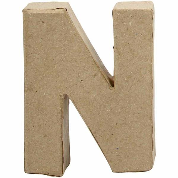 Bokstäver av Papier-Maché N 10 cm 1 st - papier maché