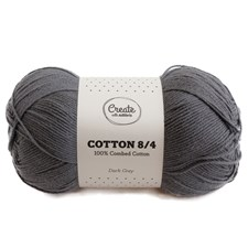 Adlibris Cotton 8/4 lanka 100g Dark Grey A182