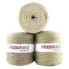 Hoooked Zpagetti Garn Återvunnen bomull ca 900g Beige shades (ZP001-17)