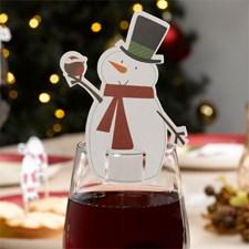 Juledekorasjon Snømann Glass 10-pakning