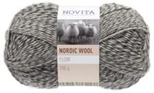 Novita Nordic Wool Flow Garn Ullgarn 100 g, stenrös 090