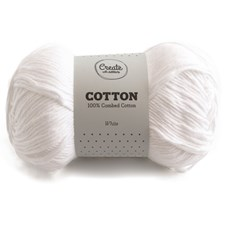 Adlibris Cotton Garn 100g White A027