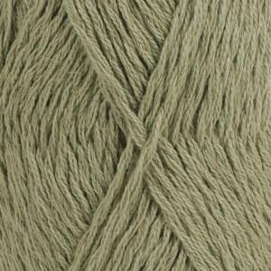 Drops, Belle Uni Colour, Garn, Bomullmiks, 50 g, Mosegrønn 10