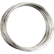 Memory wire, tykkelse 0,7 mm, dia. 5 cm, forsølvet, 1stk., ca. 9,7 m