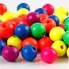 Träpärlor 10 mm 18 g Neonfärger
