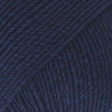 Drops Cotton Merino Uni Colour Garn Ullmix 50g Navy 08