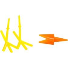Kyllingnebb og -føtter, L: 30+37 mm, H: 28 mm, gul, orange, 8sett