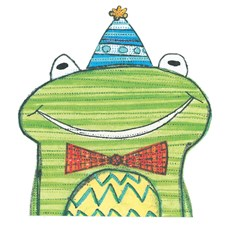 Gratulasjonskort S. Battle Happy Smiling Frog