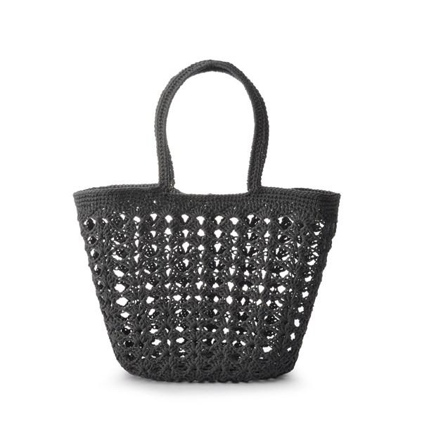 Ceannis Crochet Round Basket Grey