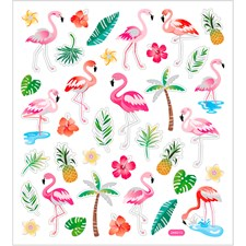 Stickers Flamingo ca. 37 st 1 ark