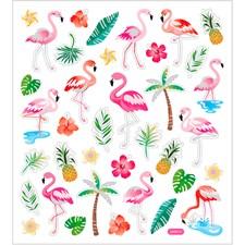 Stickers Flamingo ca. 37 st 1 ark