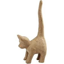 Katt av Papier-Maché 12x28 cm 1 st