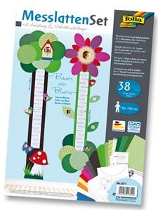 Høydemåler for barn 50-150 cm, 38 deler Tre/Blomst