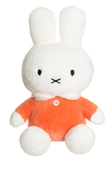 Miffy kanin lång päls, Orange, Teddykompaniet