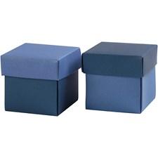 Brett-selv-eske, str. 5,5x5,5 cm, 250 g, 10 stk., lys blå/mørk blå