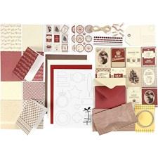 Kort och Kuvert med Tillbehör för Egen Design