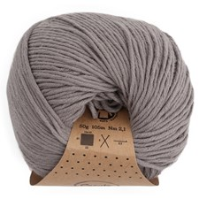 Adlibris Organic Cotton 50g Medium Grey A423