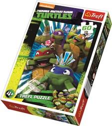 Ninja Turtles, Puslespill, 60 brikker, Trefl