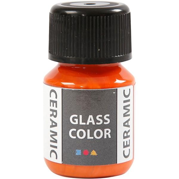 Ceramic-väri, 35 ml, oranssi